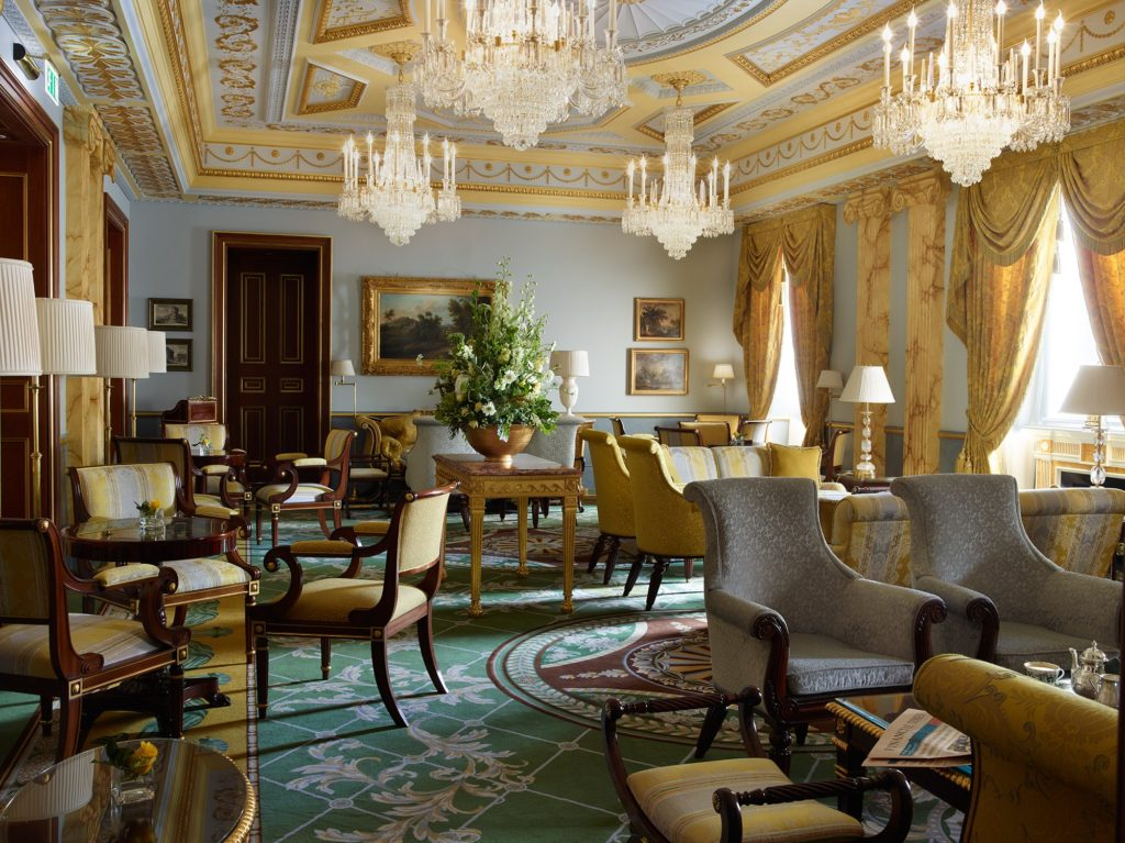The Lanesborough withdrawing room. Courtesy The Lanesborough.