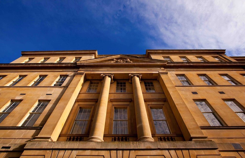 Exterior of The Gainsborough Bath Spa. Courtesy The Gainsborough Bath Spa.
