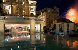 Fireworks light up the night at the Hotel Metropole Monte-Carlo. Courtesy Hotel Metropole Monte-Carlo.