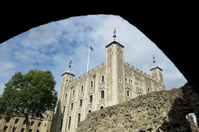 The White Tower at the Tower of London. Copyright Amy Laughinghouse