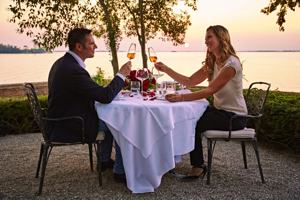 Romantic sunset dinner for two at San Clemente Palace Kempinski Venice