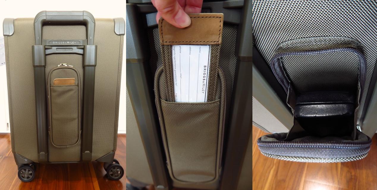 Briggs & Riley suitcase features