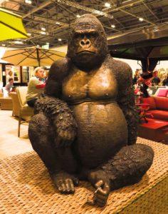 bronze gorilla