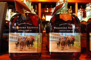 two bottles of Woodford Reserve Distiller's Select, the official bourbon of the Kentucky Derby
