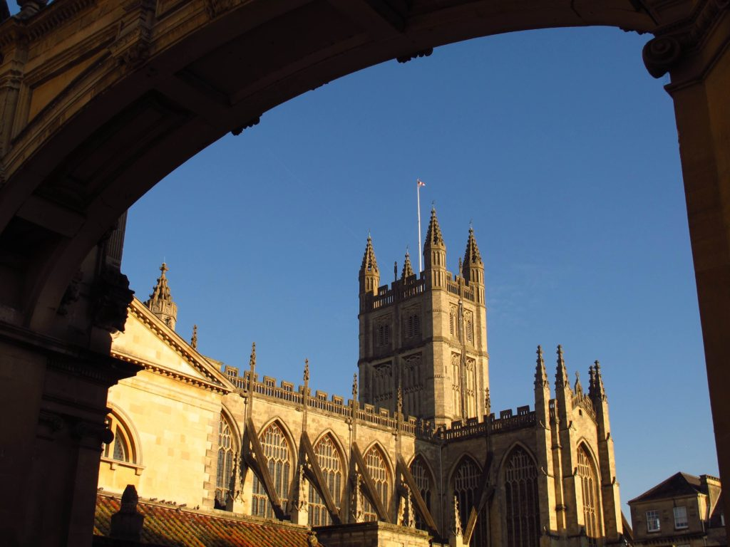 Bath Abbey, a landmark in Jane Austen's Bath, England