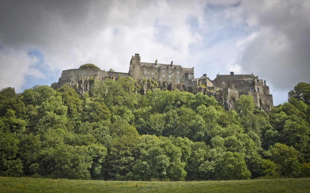 Stirling Castle atop hill