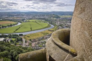 View of Stirling from the top of the Wallace Monument.