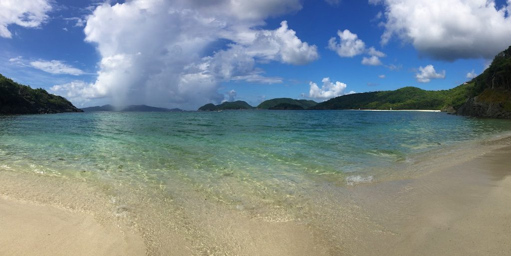 A storm on the horizon at St. John's Jumbie Bay, but it was nothing compared to Hurricane Irma.