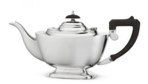 Art Deco silver plated teapot