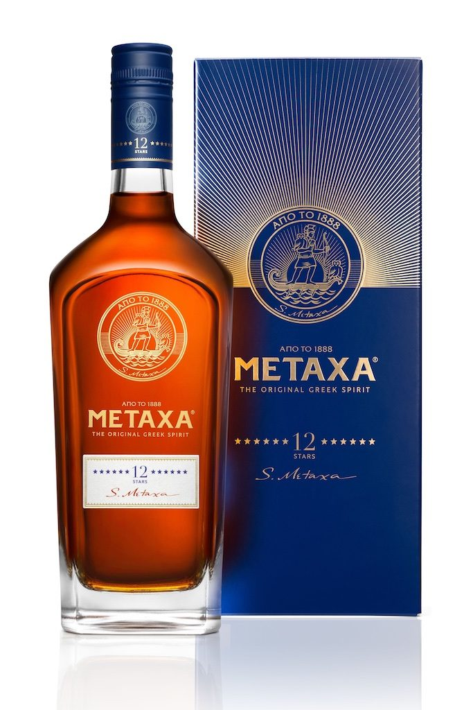 METAXA 12 Stars bottle and box. Courtesy METAXA.