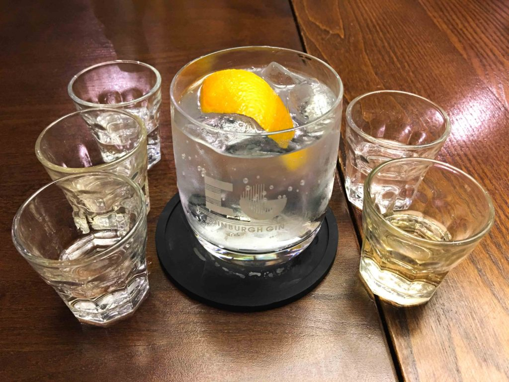 Edinburgh gin tasting. Copyright Amy Laughinghouse