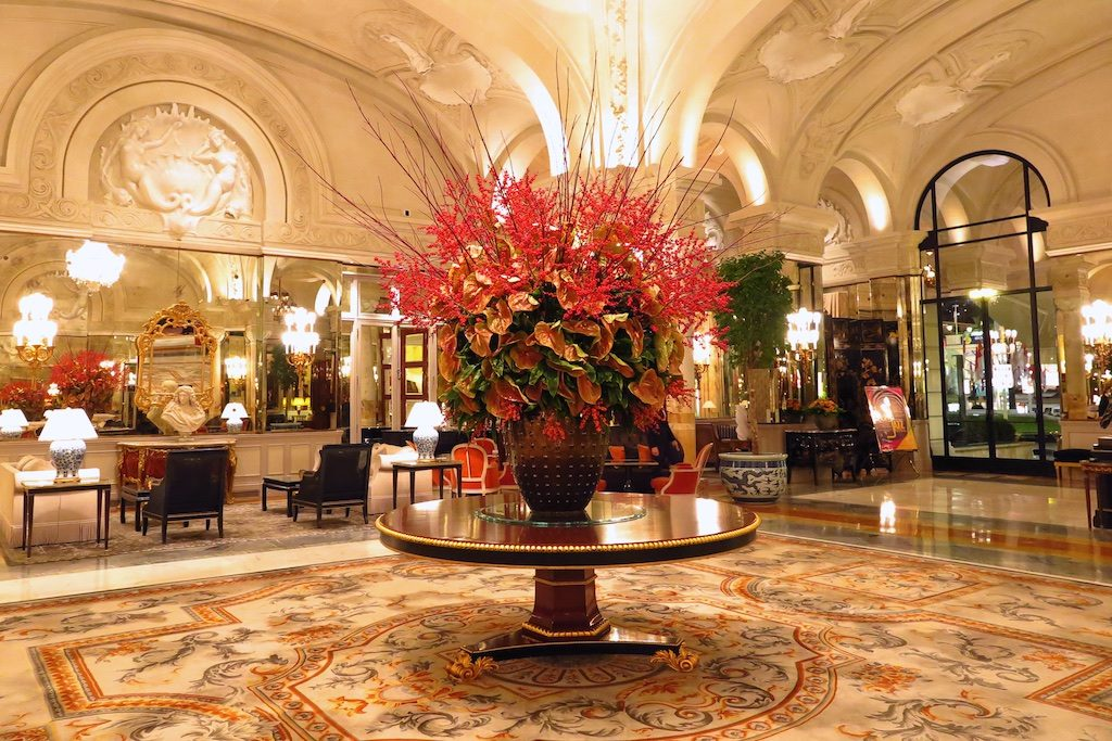 Lobby of Hotel de Paris, Monte Carlo, Monaco. Copyright Amy Laughinghouse
