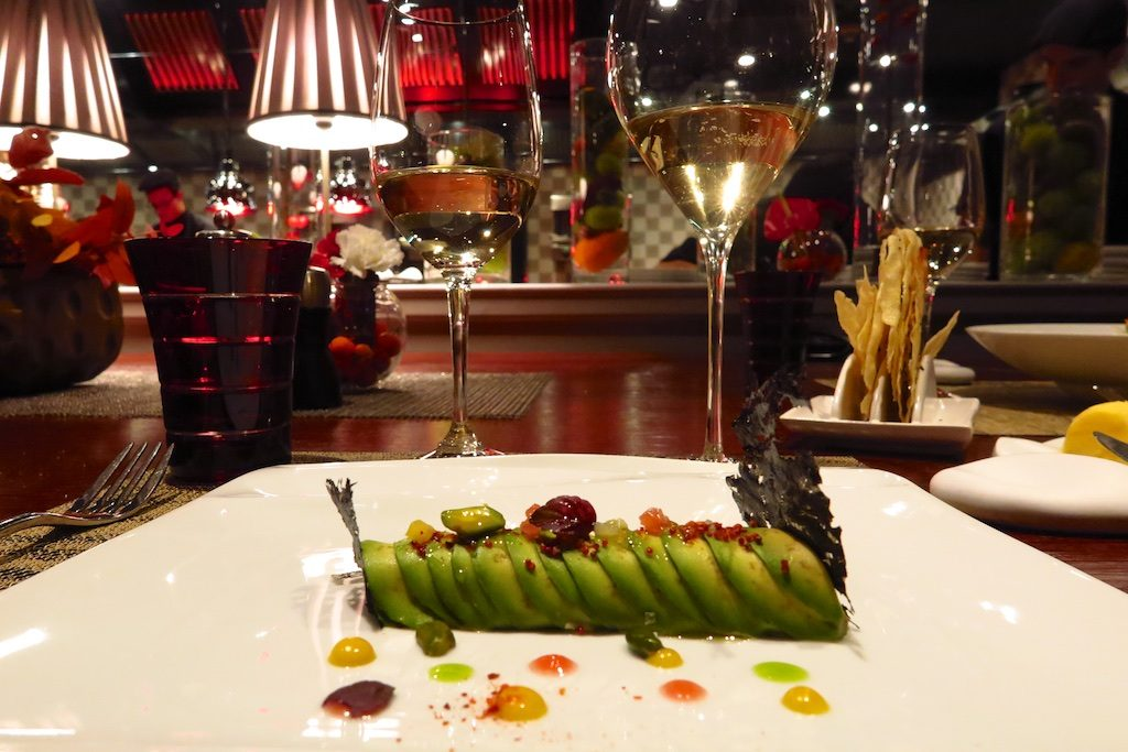 The chef's table at Joel Rubuchon Monte-Carlo. Copyright Amy Laughinghouse