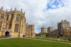 St. George's Chapel, left, at Windsor Castle, where Prince Harry will wed Meghan Markle. copyright Amy Laughinghouse