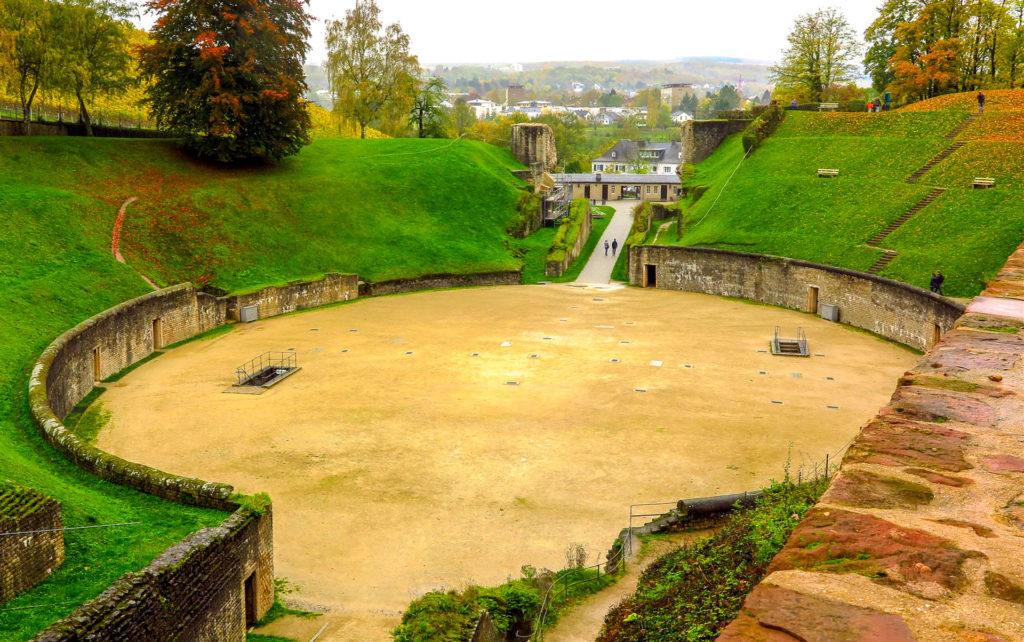 Trier's Roman Amphitheater once accommodated up to 20,000 spectators. Copyright Amy Laughinghouse.