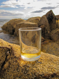 whisky on the rocks, literally