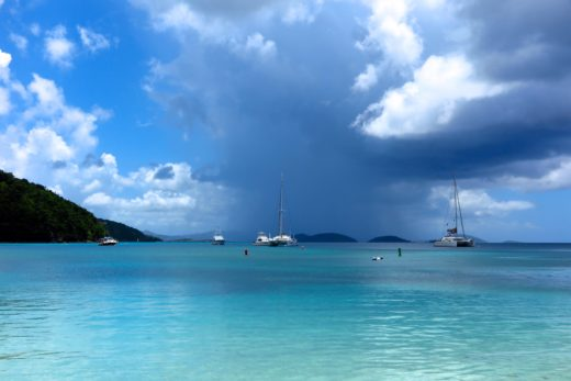 A storm brewing over Maho Bay, St. John